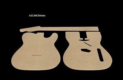 Telecaster Template | Telecaster Mdf Guitar Body And Neck Template 0 25 Thickness Cnc