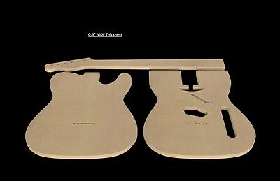 Telecaster mdf guitar body and neck template 05 thickness cnc made 1 of 3 telecaster mdf guitar body and neck template 05 thickness cnc made tele maxwellsz