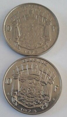 10 Francs, 10 Frank 1969 -1979 Belgique Belgïe Belgium Baudouin FR NL KM# 155 6