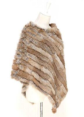 Poncho donna copri spalle mantella sciarpa pelliccia LAPIN TRICò MULTICOLOR