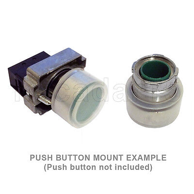 22mm Clear Boot Cover for Flush Push Button - Transparent Round Silicone
