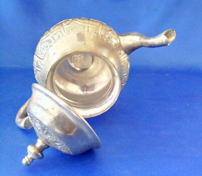 Beautiful  Handcrafted Marked  Islamic  Moroccan Hammered Teapot Tea Pot Unused 5