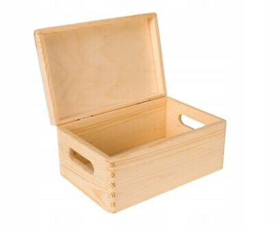 Holzkiste Holz Box praktische Holzkiste mit Deckel Box Holzbox 30x20