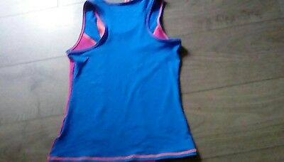 Girls M&S  Sleeveless Sports Active Top Moisture Wicking age 11-12 Free Post 2