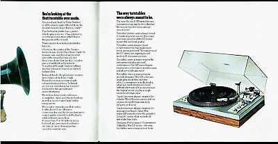 Garrard GT 55/35/25/15/10 Turntables Rare Original Factory Dealer Brochure 3