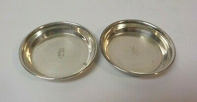 "Pair Sterling Silver Butter Pats, Monogram ""R"" 8"