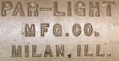 Vintage Par-Light Mfg. Co Cast Aluminum Halogen Flood Light Milan ILL. Steampunk 5 • CAD $50.39