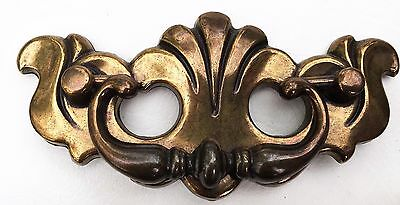 "Antique Hardware Drawer Pull .. Vintage Brass Chippendale Batwing.3"" centers 8"