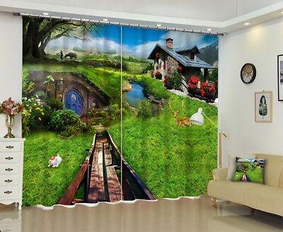 3D Pastoral Hut 62 Blockout Photo Curtain Printing Drapes Fabric Window CA Carly 2