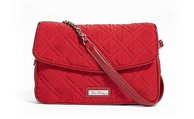 736312eb4c1 ... TANGO RED Vera Bradley CHAIN SHOULDER BAG Microfiber Patent Leather  Trim New 2