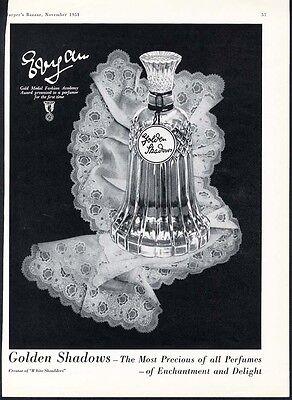 Vintage Perfume Bottles  Golden Shadows 1 oz made by Evyan Parfums 4