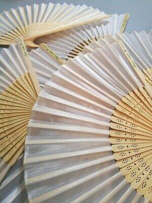 50 Ventagli in bamboo matrimonio art. Firenze,  NASTRO PERSONALIZZATO OMAGGIO 5