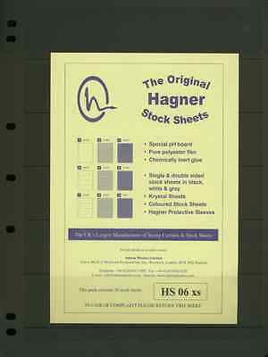 Hagner Single Sided Stamp Album Stock Pages from £3.95 per pack of 10.