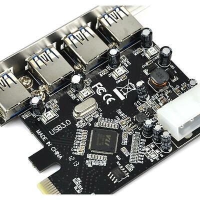 PCI-E PCI Express to 4 Port USB3.0 USB 3.0 Hub Controller Card Adapter 6