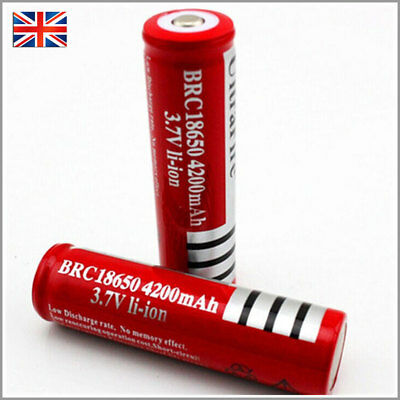 4 x Ultrafire 18650 4200 3.7V Rechargeable Li-ion Battery for Flashlight torch