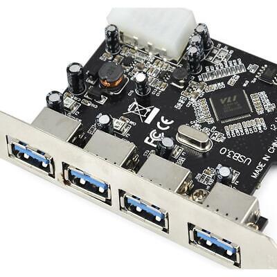 PCI-E PCI Express to 4 Port USB3.0 USB 3.0 Hub Controller Card Adapter 4