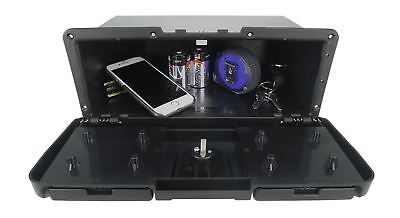 Pactrade Marine Boat RV Truck ABS Locking Plastic Glove Box With Two Drink Holde
