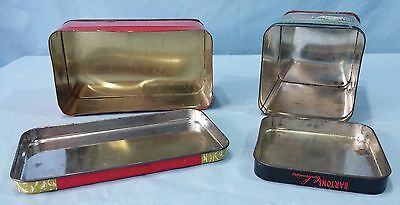 Vintage Advertising Tins Lithograph Epicure Fruit Cake And Barton's Almond Kiss 8