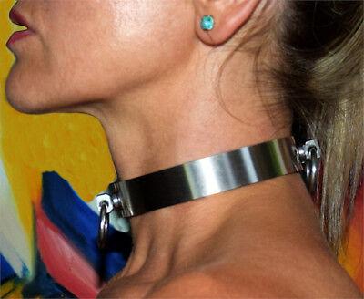BDSM Halsband Edelstahl Edelstahlhalsband Metallhalsband HANDARBEIT auf Maß neu 2