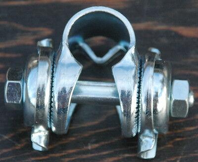 "Vintage Schwinn Fixie Bicycle Saddle Single Seat Rail Clamp 7//8/"" Bike Seatpost"