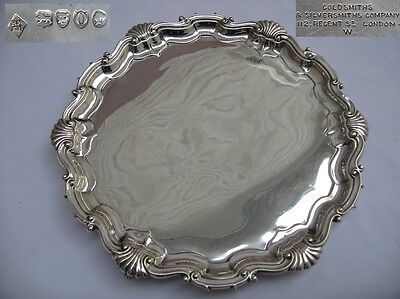 Stunning Large Georgian Styled Victorian Sterling silver Salver 500gms London. 2