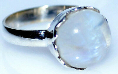 Mystic Moonstone Natural Gemstone Rings 925 Sterling Silver Ring All Sizes L - Z 3