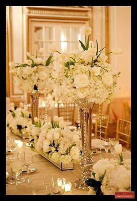 Tall Vase Gold Trumpet Vases Polished Metal Wedding Centerpieces