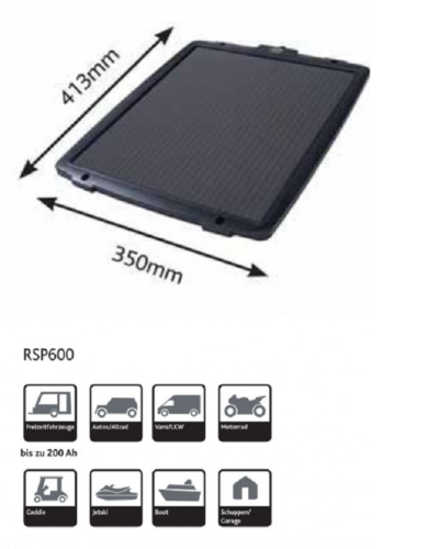Ring RSP600 6w Solar Battery Charger / Maintainer Car Boat Caravan Motorhome 2