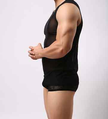 Débardeur noir transparent taille M/L NEOFAN  Ref NY08 sexy gay int seul P 3