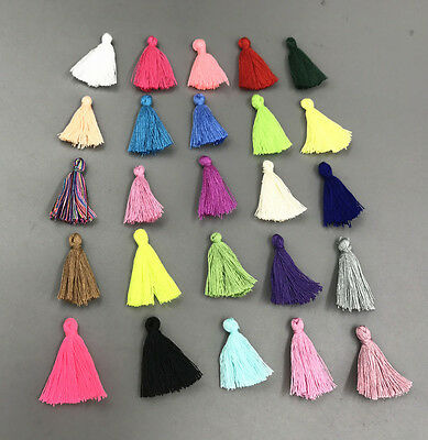 100X Variety colors Cotton Thread Tassel Charm Pendant Tassels Jewelry 30mm