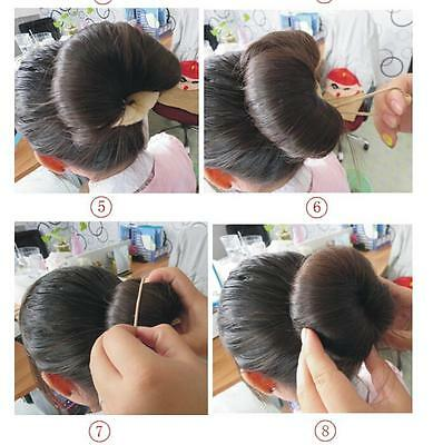 4 Of 8 2pcs Hair Styling Sponge Magic Donut Bun Maker Former Ring Shaper Styler Tool Bb