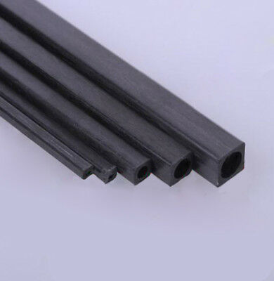 Carbon Fiber Square Tube & Sheet 1.7mm 2mm 3mm 4mm 5mm OD 200mm Or 400mm Length 5