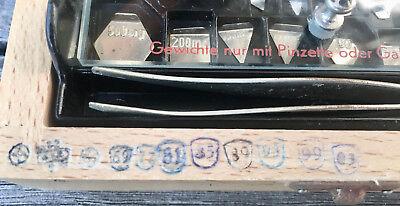 APOTHEKER - Schicker Gewichtesatz / Feingewichte im Holzkasten - Sauter 10
