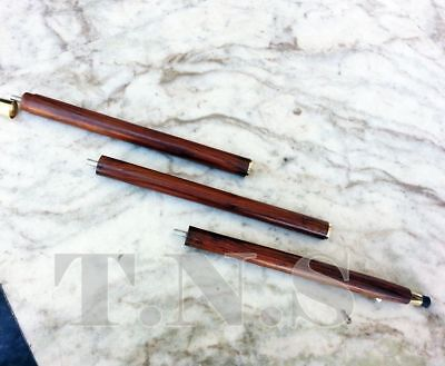 NEW Solid Brass Designer Handle Vintage Wooden Cane Walking Canes Stick 3