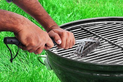 """BBQ Grill Brush Cleaner 18"""" Grilling Tool Cleaning Stainless Steel Woven Wire 10"""