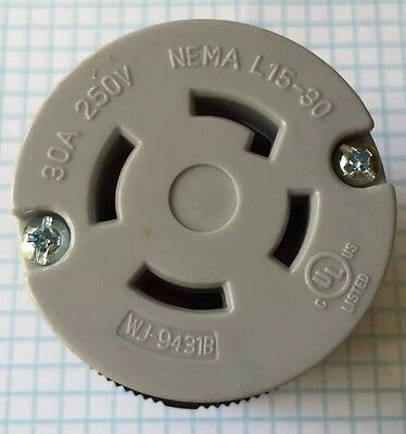 2 Units High Quality, NEMA L15-30 Locking Connector, UL listed 4