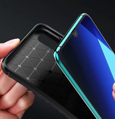 For Samsung Galaxy A30 A50 Matte Frosted Protective TPU Back Cover Carbon Case 9