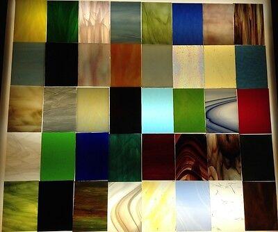Tiffanyglas, 40 Scheiben à 7 x 10 cm