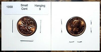 Canada 1959 Small Cent *Hanging 9* Choice BU UNC Uncirculated Penny!! 2