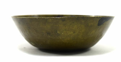 Rare Antique Old Talisman Islamic Medicine Calligraphy Brass Bowl. G3-14 US 3