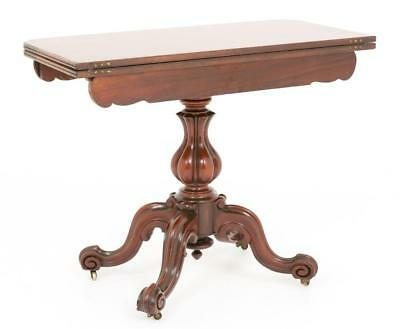 Victorian Mahogany Card Table - Games Tables 1860 7