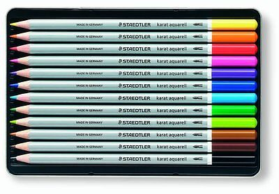 Staedtler - Karat Aquarell Watercolour Pencils - Assorted Colours - Tin of 12 2