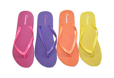 b568854bac504 ... Womens Flip Flop Solid Neon Color Straps Soft and Comfortable Fit Style  W044 2