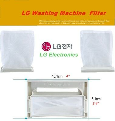 2 Round LINT Filter Dust Mesh Net Fit for LG Washing Machine Washer Replace Part