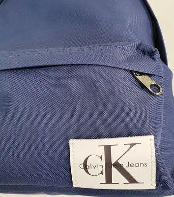 Calvin Klein Jeans Zainetto Unisex Lavabile Tasche Esterna e  Interna Stell Blue 4