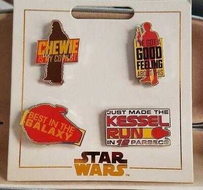 Disney Pins STAR WARS Flair Sets Dark Side ~ Light Side ~ Solo ~ 12 pins NOC