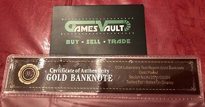 24KT Gold plated $100 Canada bill banknote - FREE SHIPPING&FAST - ON SALE 3