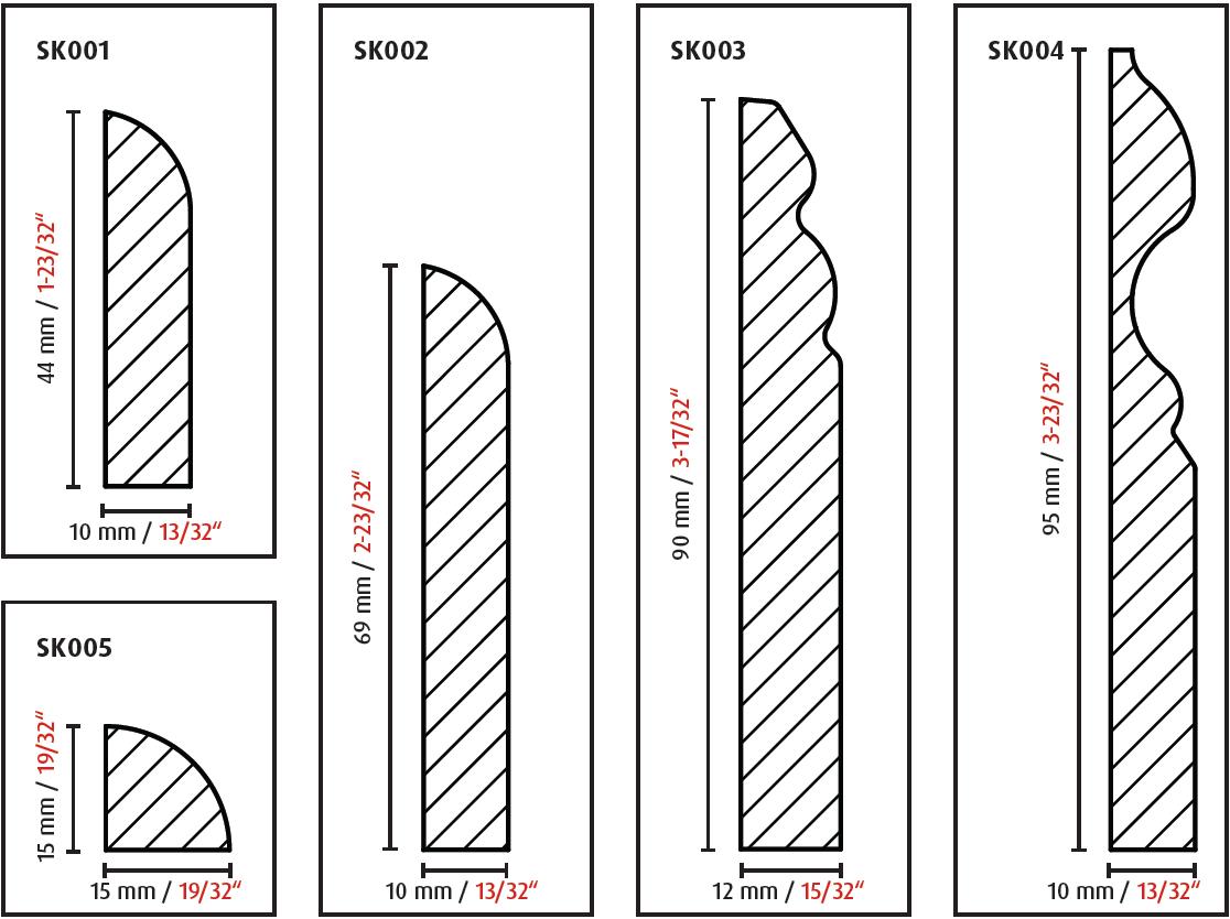 704162 Kirsch 3m FN pro-flex Biegebodenprofil biegbares Bodenprofil 6€//1m