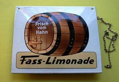 FASS LIMONADE Altes Emailschild ~ 1970 TRAUMZUSTAND Zapfhahn Brauerei Brause RAR 6