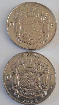 10 Francs, 10 Frank 1969 -1979 Belgique Belgïe Belgium Baudouin FR NL KM# 155 5